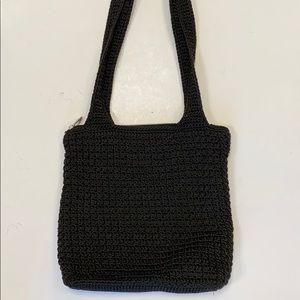 The Sak Elliot Lucca Black Knit Tote Bag